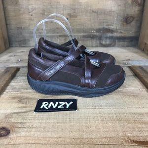 Skechers Leather Comfort Strap Shape Ups Sneakers